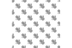 Business gear pattern seamless vector Product Image 1