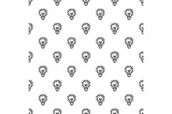 Idea bulb pattern seamless vector Product Image 1