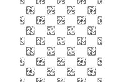 Miss one puzzle pattern seamless vector Product Image 1