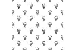 Save energy bulb pattern seamless vector Product Image 1