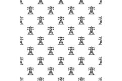 Electric tower pattern seamless vector Product Image 1
