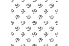 Electric car pattern seamless vector Product Image 1