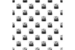 Plastic lunchbox pattern seamless vector Product Image 1