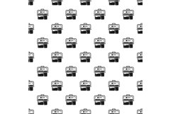 Meal lunch box pattern seamless vector Product Image 1