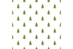 Xmas fir tree pattern seamless vector Product Image 1