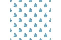 Magic star bag pattern seamless vector Product Image 1