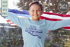 All American SVG | Boy | Girl | July 4th | Patriotic Product Image 4