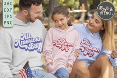 All American SVG | Boy | Girl | July 4th | Patriotic Product Image 2