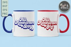 All American SVG | Boy | Girl | July 4th | Patriotic Product Image 3