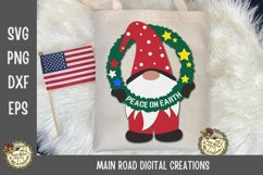Christmas Gnomes SVG Bundle-Holiday Gnomes-Peace on Earth Product Image 3