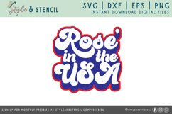 Rose in the USA SVG   4th of July   America Product Image 2
