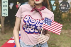 Rose in the USA SVG   4th of July   America Product Image 3