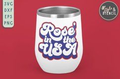 Rose in the USA SVG   4th of July   America Product Image 4