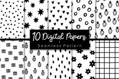 Black & White patterns. Papers pack. Seamless pattern. Product Image 1