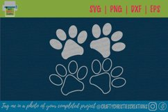 Paw Print SVG - Dog Paw Print SVG - Cat Paw Print SVG Product Image 1