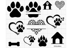 Paw Print svg, dog paw print svg, dog paw svg, paw svg Product Image 2