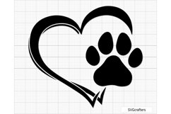 Paw Print svg, dog paw print svg, dog paw svg, paw svg Product Image 5