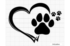 Paw Print svg, dog paw print svg, dog paw svg, paw svg Product Image 6