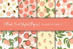 Peach Fruit Digital Papers - Seamless Pattern Product Image 1