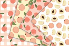 Peach Fruit Digital Papers - Seamless Pattern Product Image 2