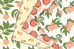 Peach Fruit Digital Papers - Seamless Pattern Product Image 3