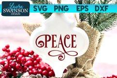 Peace SVG Cut File   Christmas SVG Cut File Product Image 1