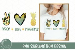Peace Love Pineapple Sublimation- Summer Sublimation Design Product Image 1