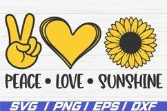 Peace Love Sunshine SVG / Cut File / Cricut / Sunflower SVG Product Image 1