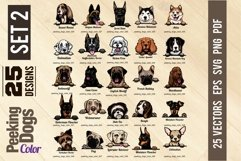 Peeking Dogs - Color Set 2 - 25 vector designs Product Image 2