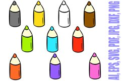 178 Coloured Pencil Cartoon Illustration Bundle Product Image 3
