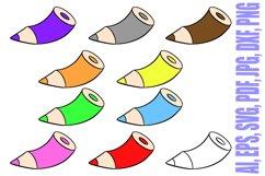 178 Coloured Pencil Cartoon Illustration Bundle Product Image 6