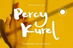 Web Font Percy Kurel - A Handwritten Script Font Product Image 1