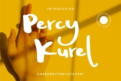 Percy Kurel - A Handwritten Script Font Product Image 1