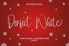 Web Font Perfect White - Christmas Handwritten Font Product Image 1