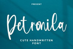 Petronila - Handwritten Font Product Image 1