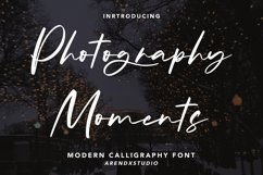 Photography Moments - Modern Calligraphy Font Product Image 1
