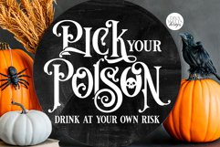Pick Your Poison SVG | Drink At Your Own Risk Halloween Typo Product Image 1