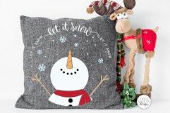 Let It Snow SVG | Christmas Snowman Design Product Image 5