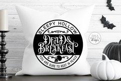 Sleepy Hollow Dead & Breakfast SVG | Halloween Round Sign De Product Image 2