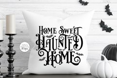 Home Sweet Haunted Home Gothic SVG | Halloween Word Art Product Image 2
