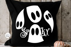 Spooky SVG | Halloween Ghosts Round Design Product Image 2