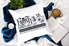 Frosty's Snowflake Cafe SVG | Christmas / Winter Design Product Image 2