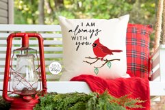 I am always with you SVG | Red Cardinal Memorial Design Product Image 6