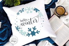 Hello Winter SVG   Snowflakes Christmas Round Design Product Image 3