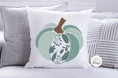 Floral Leaves Pumpkin SVG | Fall / Autumn Design Product Image 3