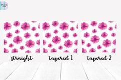 Pink Flowers Seamless Skinny Tumbler Sublimation Wrap 20 Oz Product Image 3