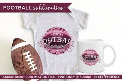 Football Season Sublimation design in pink and plum hues Product Image 2