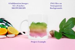 Sublimation PNG Designs - Ombre Green & Pink Product Image 3