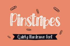 Pinstripes - Quirky Handrawn Font Product Image 1