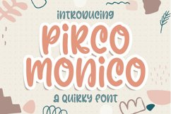 Pirco Monico -Playful Quirky Font Product Image 1
